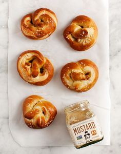 These soft, salty baked pretzels are vegan-friendly.