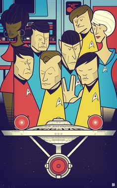 "Star Trek Art Print by Ale Giorgini on Society6 (13"" x 19"") - $20.80 #startrek #tos"