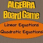 "Math Board Game - ""High School Algebra Board Game - Linear and Quadratic Equations"" Math Teacher, Math Classroom, Teaching Math, Teacher Stuff, Algebra Activities, Math Resources, Maths, Common Core Algebra, Algebra 2"