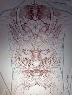Asian Tattoos, Oriental, Dragon, Abstract, Rose, Artwork, Tattoos, Japanese Tattoos, Summary