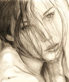 Portrait of Jessica Biel by DeadInTheAttic.deviantart.com on @DeviantArt