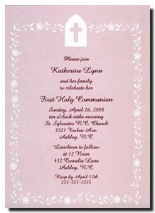Girls Communion Invitations, Pink First Communion Cross Invitations, Cross in Pink for a Girls First Holy Communion Invites at www.TCWDesigns.com Communion Invitations, First Holy Communion, Invites, Holi, Girls, Pink, Invitations, First Communion Invitations, Toddler Girls