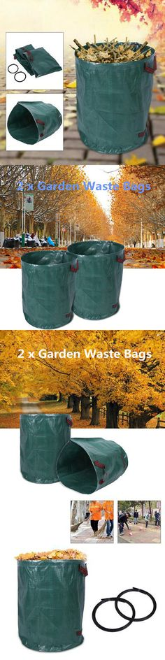 Garden Waste Bags 181024: 270L*2 Portable Large Garden Waste Bags Refuse Rubbish Grass Recycling -> BUY IT NOW ONLY: $15.15 on #eBay #garden #waste #portable #large #refuse #rubbish #grass #recycling Garden Waste Bags, Grass, Recycling, Stuff To Buy, Ebay, Grasses, Upcycle, Herb