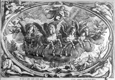 The Four Seasons, engraved by Philip Galle, (engraving) Wall Art & Canvas Prints by Jan van der Straet Seasons Of The Year, Four Seasons, Winged Horse, Thing 1, Fine Art Prints, Canvas Prints, Illustrations, 16th Century, Poster Size Prints