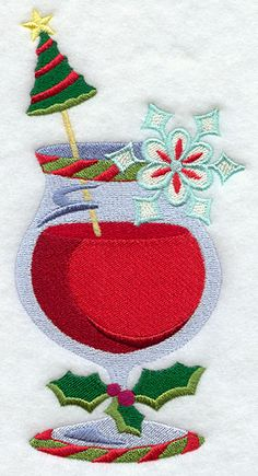 A Cup of Christmas Cheer - Daiquiri design (F7384) from www.Emblibrary.com