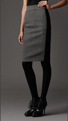 Burberry London Wool Pencil Skirt