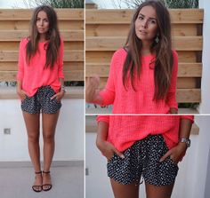 Zara Knit, She Inside Printed Shorts, Thailand Earrings, River Island Silver Watch, Diy Strap Sandals