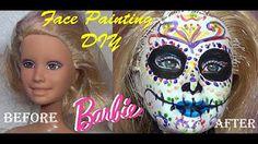 Cinco de mayo, Dia de Los Muertos facepaiting of a Barbie Doll