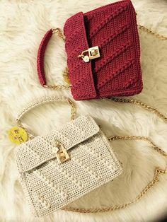 Crochet Clutch, Crochet Handbags, Crochet Purses, Crotchet Bags, Knitted Bags, Macrame Bag, Denim Bag, Cotton Bag, Crochet Fashion