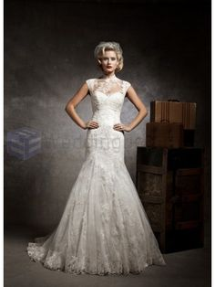 Lace and Tulle Mermaid Strapless Sweetheart Neckline Wedding Dress
