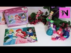 Tinker Bell Disney Fairies Tink's Pixie Sweets Bakery Frozen Elsa Anna Princess Puzzle - YouTube