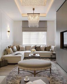 Heres some living room inspiration, how smart does the sofa look Designed by sophiepatersoninteriors. Living Room Goals, Home Living Room, Living Room Designs, Living Room Decor, Luxury Interior, Interior Architecture, Interior Design, Spacious Living Room, Home Decor Kitchen