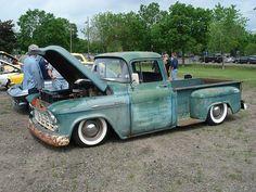 1959 Chevy Truck, Chevy Pickup Trucks, Gm Trucks, Chevy Pickups, Chevrolet Apache, Patina Paint, Trucks Only, Classic Pickup Trucks, Shop Truck