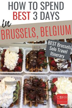 3 days in Brussels is enough to see the top sights using my Brussels #Belgium solo travel itinerary. Make it 5 days in Belgium with my day trips! Ideal for over 40 travel and solo travel to #Brussels Belgium. By @CORRTravel #CORRTravel Solo Travel Itinerary   Travel Itinerary   Solo Travel Tips   Solo Travel Destinations   Solo Travel Safety   Belgium Travel Guide   Travel Planning   Travel Tips and Tricks   Over 40 Travel Solo Travel Tips, Europe Travel Guide, Travel And Tourism, Travel Guides, Budget Travel, Travel Destinations, International Travel Tips, Brussels Belgium, Day Trips