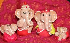 A collection of Ganeshas