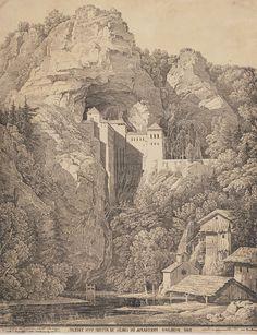 Old picture of Predjama Castle #slovenia #predjamacastle #predjamskicastle #placetovisit #travel #thingstodo #history #slovenianhistory #castleinacave #postojna #sloveniancastles #postojnacastle