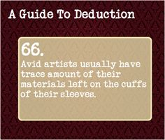 A Guide To Deduction — Suggested by: mapleandcogs