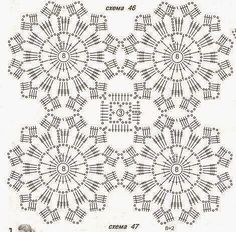 Crochet Baby Dress Pattern, Crochet Mandala Pattern, Crochet Square Patterns, Crochet Diagram, Crochet Squares, Crochet Designs, Crochet Cushion Cover, Crochet Cushions, Crochet Dollies