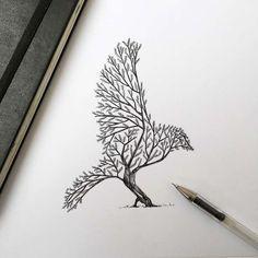 El ilustrador italiano Alfred Basha nos muestra a través de su cuenta de Instagram los dibujos sobre naturaleza que está realizando. Para llevarlos a...