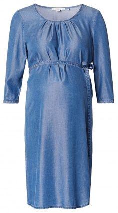 Γυναικείο Μακρυμάνικο Φόρεμα Εγκυμοσύνης ESPRIT MATERNITY - μπλε