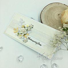 OBÁLKA no.14/ na peníze dlouhá bílá/zlatá Place Cards, Scrap, Place Card Holders