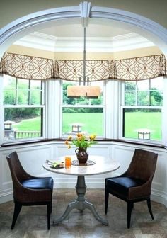 Kitchen Bay Window Treatments Elegant I Love the Simple Design Of these Bay Valances Mostly Flat Valance Window Treatments, Kitchen Window Treatments, Custom Window Treatments, Window Coverings, Cornices, Kitchen Window Blinds, Kitchen Valances, Blinds For Windows, Bay Windows