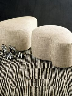 Giorgio Armani's New Home Collection - Armani Casa - curvy ottomans