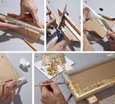 Cornici fai da te con cartone e foglia oro   Bricolage - Bricoportale Packaging Solutions, Genere, Jewellery Display, Storage Solutions, Toilet, Recycling, Frames, Rolls, Crafty