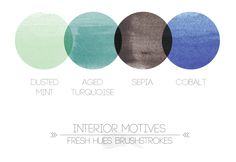 interior motives brushstrokes color palette from fresh hues