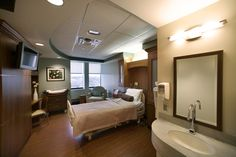 Patient Room.  Warm/residential