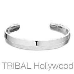 EQUATOR Titanium Mens Cuff Bracelet with Beveled Design