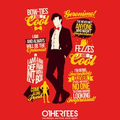 """""""11th Quotes"""" by TomTrager Shirt, Sweatshirt, Hoodie and Tank Top on sale until 15 July on othertees.com Pin it for a chance at a FREE TEE! #doctorwho #11thdoctor"""