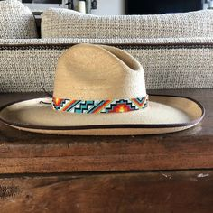 Cowboy Hat Bands, Cowboy Hats, Western Hats, Western Cowboy, Leather Jewelry, Beaded Jewelry, Beaded Belts, Jewellery, Beaded Hat Bands