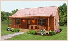 An Adirondack Cozy Log Cabin another modular. these have great potential for a mountain retreat!