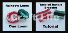 Craft Life Basic Tangled Bangle Bracelet Tutorial on One Rainbow Loom ~ The one loom version makes a smaller bracelet.