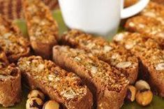 Gingerbread biscotti--made with oatmeal, hazelnuts, raisins, and molasses--from Joyofbaking.com