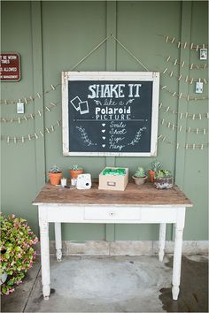 polaroid picture guest book idea @weddingchicks