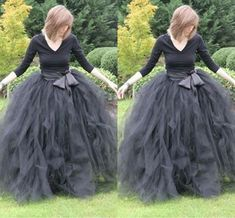 Long Party Dresses - Long Ball Gown Prom Skirt Ruffled Tulle Women Tutu Lady Formal Party Skirt Sash - Winter is here, and with it the latest fashion trends Long Tutu Skirt, Diy Tulle Skirt, Tutu Skirt Women, Tutu Skirts, Long Skirts, Ruffled Skirts, Diy Dress, Fancy Dress, Party Dresses Uk