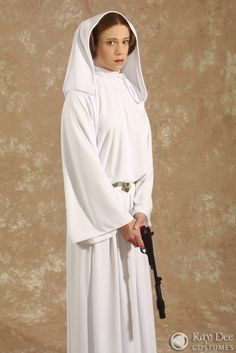 Very detailed costume information on this woman's site.  Princess Leia costume