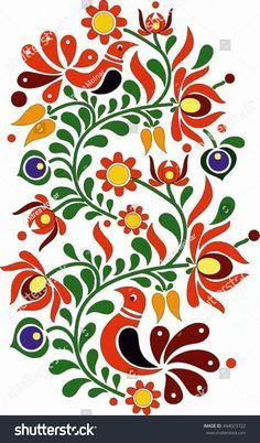 Find Hungarian Folk Art stock images in HD and millions of other royalty-free stock photos, illustrations and vectors in the Shutterstock collection. Mexican Embroidery, Hungarian Embroidery, Folk Embroidery, Embroidery Patterns, Folk Art Flowers, Flower Art, Mexican Paintings, Indian Paintings, Abstract Paintings