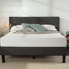 Diamond Stitched Platform Bed – Main