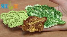How to Crochet Oak Leaf Step-by-step Tutorial Get the more patterns at . This crochet tutorial will teach you how to crochet volumetric oak leaf. One row we work in back loops and another one in front (free) loops. This leaf made in rows and has Crochet Leaf Patterns, Crochet Leaves, Crochet Motifs, Knitted Flowers, Freeform Crochet, Irish Crochet, Crochet Stitches, Knit Crochet, Crochet Videos