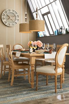 From casual to formal, Pier 1's Torrance Turned Leg Dining Table adapts to any occasion for your entertaining needs all year long. Hand-hewn of boldly grained hardwood, it's rubbed to a smooth whitewash finish, which comes in handy whenever you're in the mood to change up your color scheme. Come explore the entire collection to build your own look (pieces sold separately).