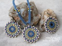 MANDALA African Safari Macrame Earrings Wedding Native Gift for Her Hand-Woven Boho Jewelry Ethnic Jewelry Hippie Tribal Earrings