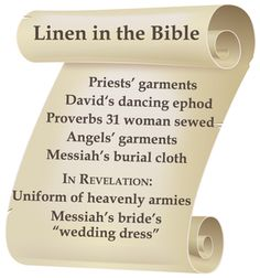 Life-GivingLinen.com products enable you do join Biblical characters in experiencing the benefits of linen!