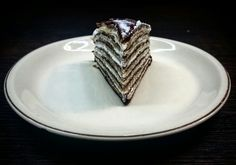 Amazing black and white pancake cake with mascarpone cream :)