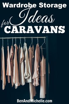 Make the most of your caravan wardrobe storage space with these great storage and organisation ideas. Maximize your motorhome or caravan closet space. Caravan Storage Ideas Space Saving, Space Saving Hangers, Storage Spaces, Wardrobe Storage, Clothing Storage, Closet Storage, Cubby Storage, Hanging Storage, Motorhome Organisation