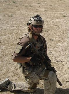Medal of Honor recipient DEVGRU Senior Chief Ed Byers Jr; Taking a kneel in Afghanistan x