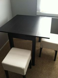 BJURSTA table and stools $125