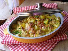 Zapečený květák s mozzarellou Mozzarella, Sprouts, Potato Salad, Anna, Potatoes, Vegetables, Ethnic Recipes, Food, Potato